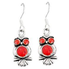 Honey onyx enamel 925 sterling silver owl earrings jewelry a55530 c14354