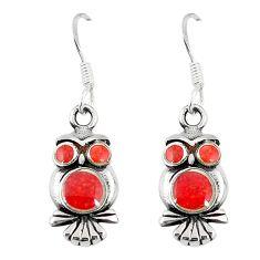 Honey onyx enamel 925 sterling silver owl earrings jewelry a55531 c14342
