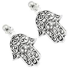Indonesian bali java island 925 silver hand of god hamsa earrings jewelry c23119
