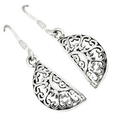 Indonesian bali java island 925 sterling silver dangle designer earrings c23036