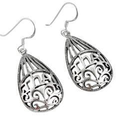 6.61gms indonesian bali java island 925 sterling silver dangle earrings c23103