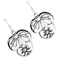 Indonesian bali java island 925 sterling silver dangle flower earrings c23108