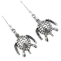 Indonesian bali java island 925 sterling silver tortoise earrings jewelry c23022