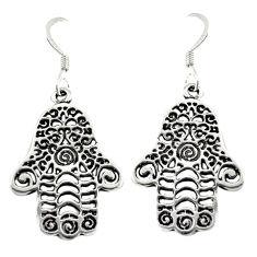 Indonesian bali style solid 925 silver hand of god hamsa earrings c20268