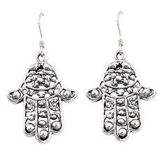 Indonesian bali style solid 925 silver hand of god hamsa earrings c20319