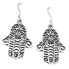 Indonesian bali style solid 925 silver hand of god hamsa earrings jewelry c20280