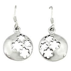 Indonesian bali style solid 925 sterling plain silver earrings jewelry c23034