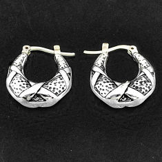 3.67gms indonesian bali style solid 925 sterling silver dangle earrings t6126