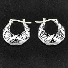 3.45gms indonesian bali style solid 925 sterling silver dangle earrings t6128
