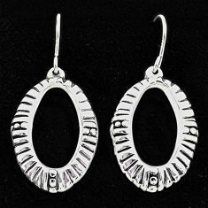 2.69gms indonesian bali style solid 925 sterling silver dangle earrings t6201