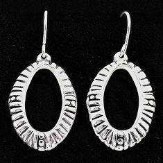 2.67gms indonesian bali style solid 925 sterling silver dangle earrings t6202