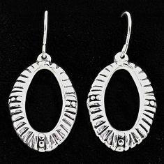 2.65gms indonesian bali style solid 925 sterling silver dangle earrings t6208