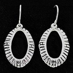 2.86gms indonesian bali style solid 925 sterling silver dangle earrings t6216