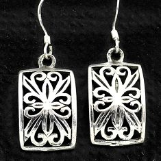 4.87gms indonesian bali style solid 925 sterling silver earrings jewelry t6271