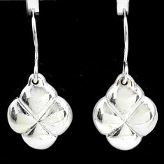 2.02gms indonesian bali style solid 925 sterling silver pattern earrings t6181