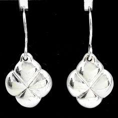 2.03gms indonesian bali style solid 925 sterling silver pattern earrings t6189