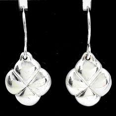 1.87gms indonesian bali style solid 925 sterling silver pattern earrings t6191