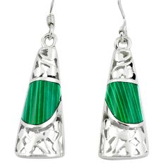 5.75cts malachite (pilots stone) 925 silver dangle earrings jewelry c11757