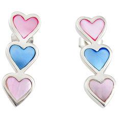 Multi color blister pearl enamel 925 sterling silver earrings a69668 c14281