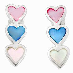 Multi color blister pearl enamel sterling silver dangle earrings a75862 c14297