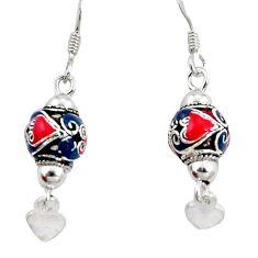4.26gms multi color enamel 925 sterling silver dangle earrings a94618 c24989