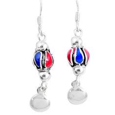3.26gms multi color enamel 925 sterling silver earrings jewelry c20255