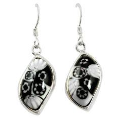 Multi color italian murano glass 925 silver dangle earrings jewelry c21772