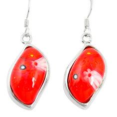 Multi color italian murano glass silver dangle earrings jewelry a83124 c24982