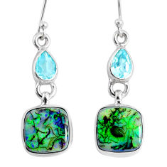 8.75cts multi color opal topaz 925 sterling silver dangle earrings r62892