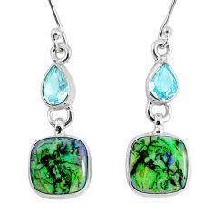 9.05cts multi color opal topaz 925 sterling silver dangle earrings r62893