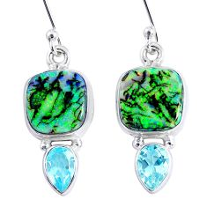 8.80cts multi color opal topaz 925 sterling silver dangle earrings r62896