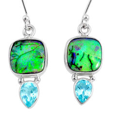 8.44cts multi color opal topaz 925 sterling silver dangle earrings r62900