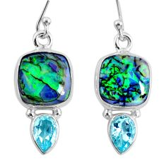 8.42cts multi color opal topaz 925 sterling silver dangle earrings r62902