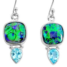 8.30cts multi color opal topaz 925 sterling silver dangle earrings r62907