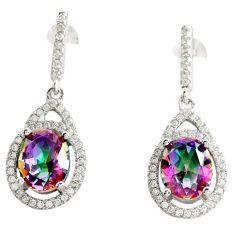 8.66cts multi color rainbow topaz topaz 925 silver dangle earrings c9622