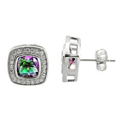 6.64cts multi color rainbow topaz topaz 925 sterling silver earrings c9950