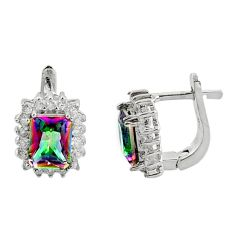 8.44cts multi color rainbow topaz topaz 925 sterling silver earrings c9951