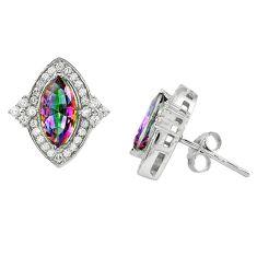 Multi color rainbow topaz topaz 925 sterling silver stud earrings a67217 c24554