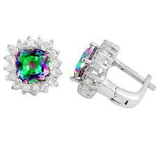 Multi color rainbow topaz topaz 925 sterling silver stud earrings a77129 c24586