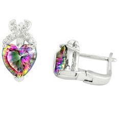 Multi color rainbow topaz topaz 925 sterling silver stud earrings a77161 c24578