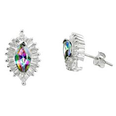 Multi color rainbow topaz topaz 925 sterling silver stud earrings a85892 c24541