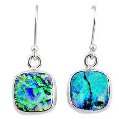 6.61cts multi color sterling opal 925 sterling silver dangle earrings r70161
