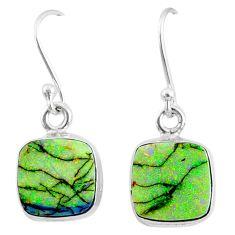 6.97cts multi color sterling opal 925 sterling silver dangle earrings r70163