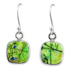 6.99cts multi color sterling opal 925 sterling silver dangle earrings r70170