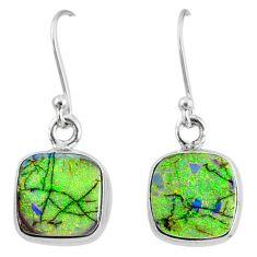 6.88cts multi color sterling opal 925 sterling silver dangle earrings r70172