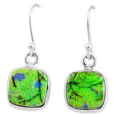 6.88cts multi color sterling opal 925 sterling silver dangle earrings r70175