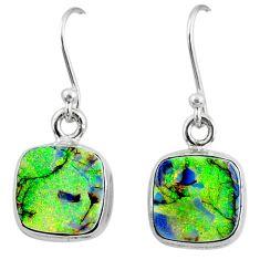 6.97cts multi color sterling opal 925 sterling silver dangle earrings r70177