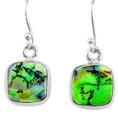 6.61cts multi color sterling opal 925 sterling silver dangle earrings r70178