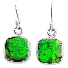 6.97cts multi color sterling opal 925 sterling silver dangle earrings r70179