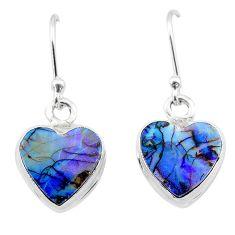 4.58cts multi color sterling opal 925 sterling silver dangle earrings t26303